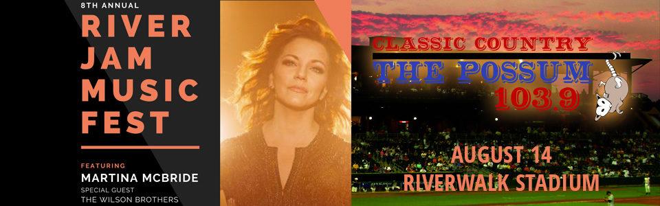 8th Annual River Jam Music Fest w/ Martina McBride